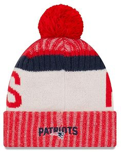 Amazon.com  NFL New England Patriots Adult Men Cold Weather Reverse Team  Sport Knit Beanie b87cd0af7