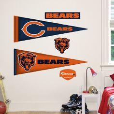 Chicago Bears Pennants - Fathead Jr.