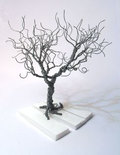 wire tree silver plated copper wire minimalistic by WireMyTree
