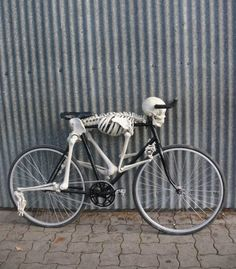 Skeleton bike.