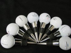 Golf Ball Wine Stopper by DNWoodCrafters on Etsy, $10.55