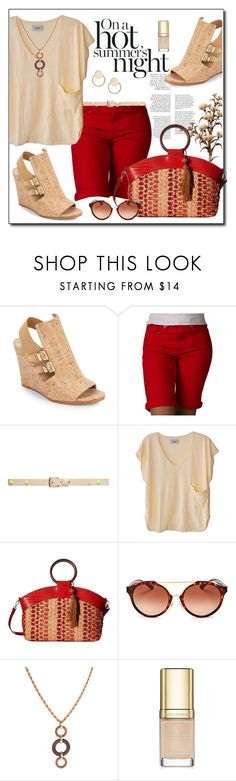 """""""Red and Tan"""" by sheryl-lee ❤ liked on Polyvore featuring Stuart Weitzman, Levi's, Forever New, Humanoid, Sam Edelman, Tory Burch, Gogo Philip, Dolce&Gabbana and Loren Stewart"""