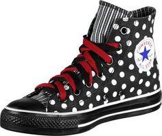Converse AllStars Chuck TaylorPolka Dots Punkte Schwarz / Weiß 1W761 Gr: 39,5 / 6,5: Amazon.de: Schuhe & Handtaschen