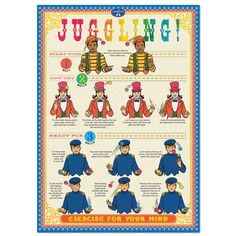 How to Juggle instructional poster
