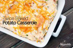Twice Baked Potato Casserole #stepable #recipes