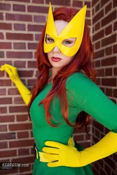 check it out cosplayer Kearstin Nicholson as Marvel Girl in green costume and beautifully photographed by Angelina Bui.