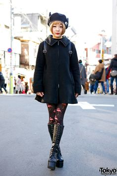 Picchi is a friendly Harajuku girl we met recently, wearing a black outfit with fun accessories