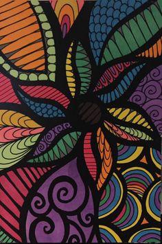 ColorIt Travelling Doodles Colorist: Jill Thompson Robinson #adultcoloring #coloringforadults #adultcoloringpages #doodle