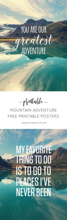 Download the free PDF files for these two Mountain Adventure prints, perfect for a nursery or kid's room!