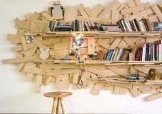 Scarti di legno per libreria