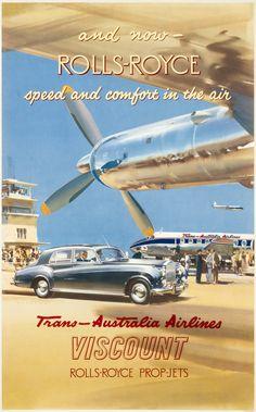 Rolls-Royce - Trans-Australia Airlines by Wootton, Frank | Shop original vintage posters online: www.internationalposter.com