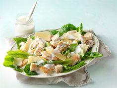 Kana-caesarsalaatti Pasta Salad, Cobb Salad, Superfood, Salad Recipes, Potato Salad, Food And Drink, Cooking Recipes, Nutrition, Favorite Recipes