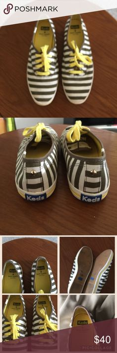 Keds for Kate spade sneakers Cute keds for  Kate spade  stripe shoes size 8.5 normal signs of wear and in perfect condition Kate Spade Shoes Sneakers