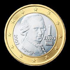 Austria: 1 Euro Coin (2002) - National Side