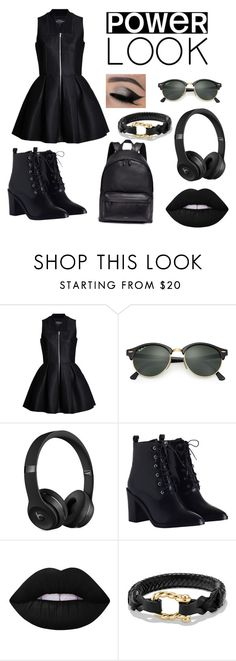"""Dark & Wild"" by siri12345 ❤ liked on Polyvore featuring Lavinia Cadar, Ray-Ban, Beats by Dr. Dre, Zimmermann, Lime Crime, David Yurman and Givenchy"