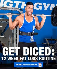 Get absolutely diced with this 12 week fat loss workout routine where the number of sets and reps you perform are determined by the roll of the dice. Weight Loss Workout Plan, Weight Loss Plans, Weight Loss Program, Best Weight Loss, Weight Loss Tips, 12 Week Workout, Workout Diet, Stubborn Belly Fat, Shoulder Workout