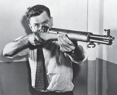 John Garand wielding his creation, the M1. - the Garand officially replaced the…