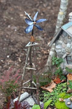 Beautiful windmill for a fairy garden