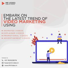 Embark on the latest trend of Video Marketing using - Animated Videos - Explainer Videos - Promotional Videos - Advertisement Videos Contact us at hasan Marketing Videos, Motion Design, Animated Gif, Latest Trends, Advertising, Animation, Movie Posters, Film Poster, Popcorn Posters