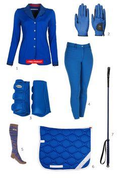 Get the Equestrian style Cobalt blauw