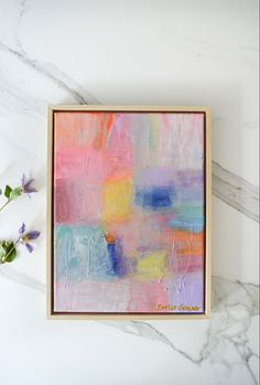 Abstract schilderij pastelkleuren pastel | woonkamer | kunst in huis | art wall | woon Original Art, Glow, Canvas, Painting, Tela, Painting Art, Canvases, Paintings, Sparkle