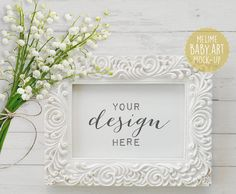 Styled Photography Mock Up White Wood by MelimeDesignStudio