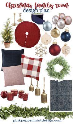Family Room Christmas Decorating Ideas