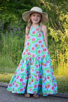 Girls Maxi Dresses, Girls Party Dress, Little Girl Dresses, Baby Dress, Fashion Dresses, Little Girl Photography, Dress Anak, Kids Frocks, Skirt Patterns Sewing