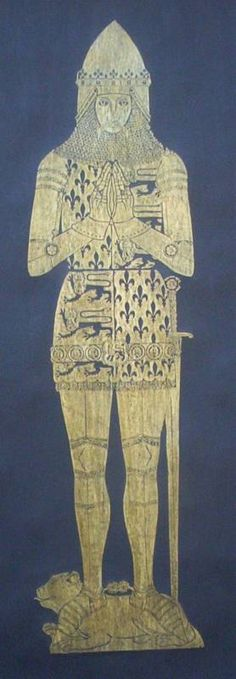 Edward the Black Prince 1306..Historical Brass by wondersofbritain