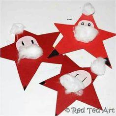 Santa star bunting