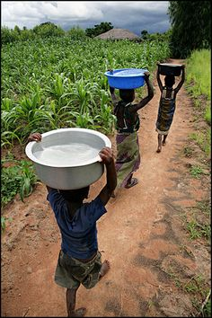 children with water - Malawi