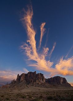 Superstitions Mountains, Arizona; photo by Greg Russell