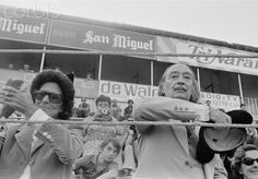 Salvador Dali and his muse Gala attend a bullfighting event. October 1, 1975