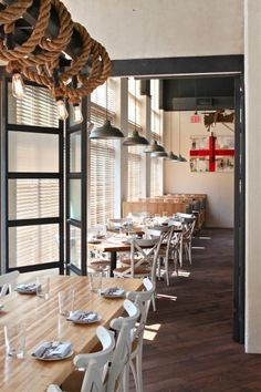Industrial Pendant Lighting and Warehouse Shades in Restaurant | Industrial FarmHouse