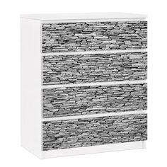 #Möbelfolie für IKEA Malm Kommode - selbstklebende Folie Arizona Stonewall #IKEA #Möbel #Möbelfolie #Aufkleber #Malm