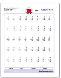Conventional Multiplication Practice These multiplication worksheets introduce math facts in order, as opposed to by fact families. If you grew up more than 20 years ago doing timed multiplication tests, these may look familiar. Multiplication Timed Test, Printable Multiplication Worksheets, Multi Digit Multiplication, Learning Multiplication, Addition Worksheets, Multiplication Problems, Math Addition, Free Worksheets, Number Worksheets