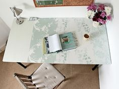 Desk makeover tutorial from (Z)drop dead gorgeous!!!