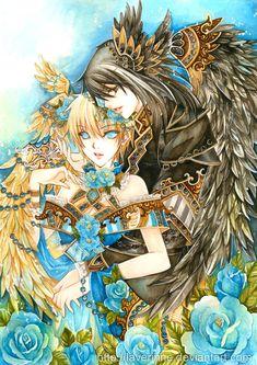 Lady Yui and Kuroi by laverinne.deviantart.com on @deviantART