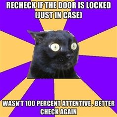 """Laughing at how much I sadly identify with """"anxiety cat""""."""