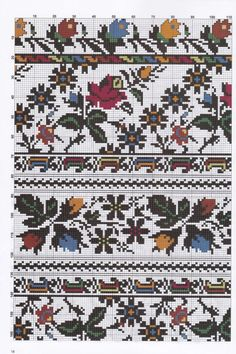 Gallery.ru / Фото #19 - 30 - kento Palestinian Embroidery, Hungarian Embroidery, Folk Embroidery, Embroidery Patterns Free, Cross Stitch Embroidery, Embroidery Designs, Cross Stitch Geometric, Cross Stitch Borders, Cross Stitch Flowers