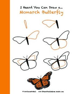 Learn how to draw a monarch butterfly step-by-step! butterfly drawing How to Draw a Monarch Butterfly painting easy step by step Easy Butterfly Drawing, Butterfly Art, Monarch Butterfly, How To Draw Butterfly, Butterfly Project, Butterfly Pictures, Drawing Flowers, Butterfly Costume, Butterfly Wallpaper