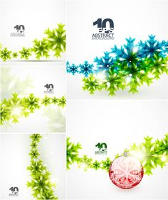 Abstract snowflakes backgrounds for Christmas vector