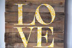 love pallet sign