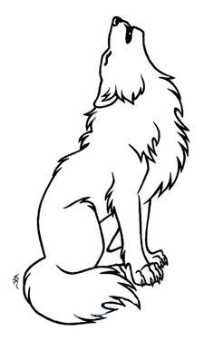 Wolf outline. To be zentangled