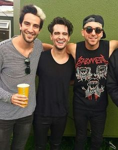 Jack and Alex from all time low with Brendon Urie