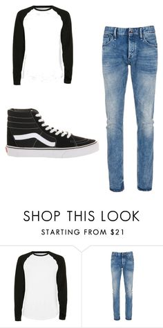 """""""teenage boy"""" by sushi20 ❤ liked on Polyvore featuring Topman, Denham, Vans, men's fashion and menswear"""