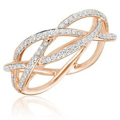 braided diamond ring - A three corded rope is not easily broken