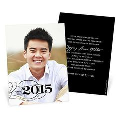 Graduation Announcements -- Sophisticated Swirls Vertical | Pear Tree Greetings