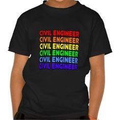 Rainbow Civil Engineer T Shirt, Hoodie Sweatshirt
