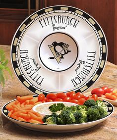 Another great find on #zulily! Pittsburgh Penguins Chip 'n' Dip Plate #zulilyfinds